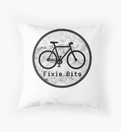Fixie Bits V1 Throw Pillow