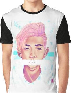 Kim Nam Joon - Pastel Graphic T-Shirt