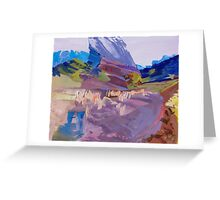 Driving towards dusk, Flinders Ranges Greeting Card