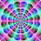 Time Tunnel in Blue and Pink by Objowl