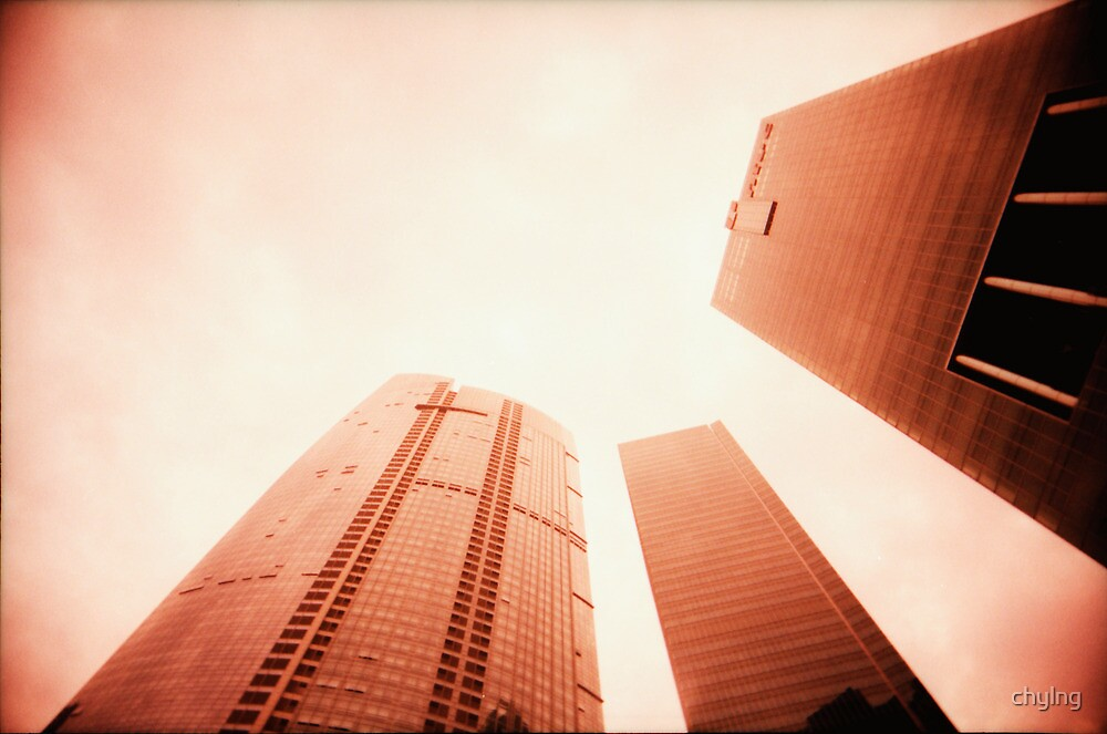 Towers Stretching Into The Skies - Lomo by Yao Liang Chua