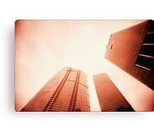 Towers Stretching Into The Skies - Lomo Canvas Print