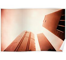 Towers Stretching Into The Skies - Lomo Poster