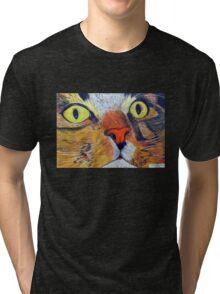 269 - MITCH (CLOSE-UP) - DAVE EDWARDS - COLOURED PENCILS & FINELINERS - 2009 Tri-blend T-Shirt