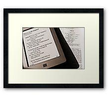 Paper or Plastic Framed Print