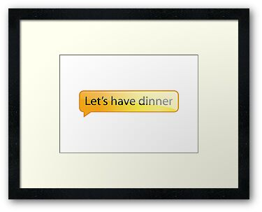 Let's have dinner by Emma Harckham