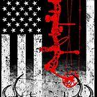 Bow Hunting USA Flag by sangdo