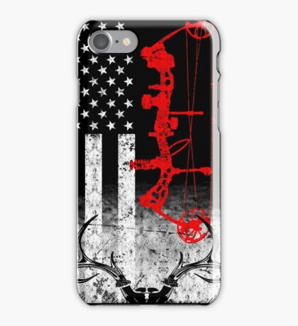 Bow Hunting USA Flag iPhone Case/Skin