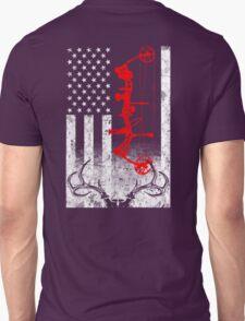 Bow Hunting USA Flag T-Shirt