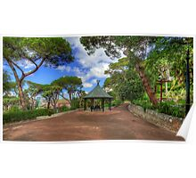 Alameda Gardens Pavillion Gibraltar Poster