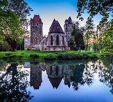 Esterhazy Castle in the Pottendorf by Zoltán Duray