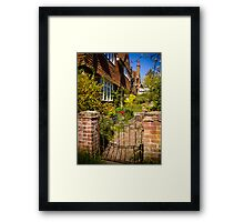 St Mary Bourne Garden Framed Print