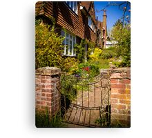 St Mary Bourne Garden Canvas Print
