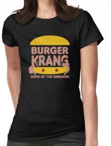 Burger Krang Womens Fitted T-Shirt