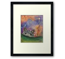 Space Wolf Framed Print