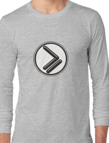 Greater than or Equal to - wht back Long Sleeve T-Shirt