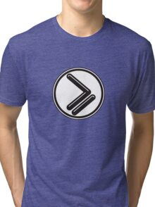 Greater than or Equal to - wht back Tri-blend T-Shirt