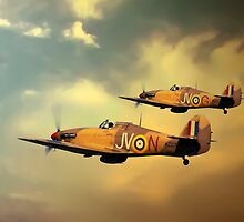 6 Squadron Hurricanes by J Biggadike