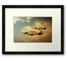 6 Squadron Hurricanes Framed Print