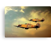 6 Squadron Hurricanes Canvas Print