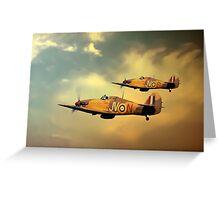6 Squadron Hurricanes Greeting Card