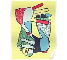 colorful foot and hand Poster