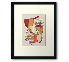 colorful foot and hand Framed Print