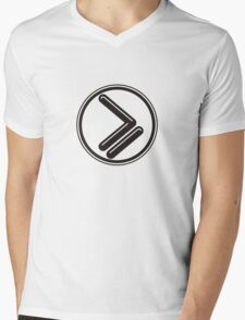 Greater than or Equal to - wht highlight Mens V-Neck T-Shirt