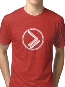 Greater than or Equal to - white Tri-blend T-Shirt