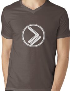 Greater than or Equal to - white Mens V-Neck T-Shirt