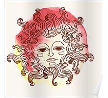 watercolor sun Poster