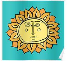 Sun face Poster