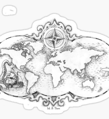 Mapped Out Sticker