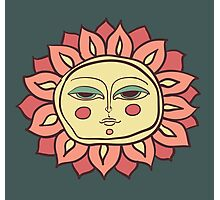 Sun face Photographic Print