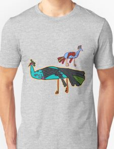 decorative peacock like a child's drawing T-Shirt