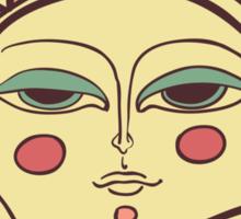 Sun face Sticker