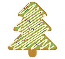 Christmas Tree Gingerbread  Photographic Print