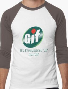 GIF Men's Baseball ¾ T-Shirt