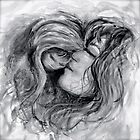 Mother and Child in Black and White by Nadine Rippelmeyer