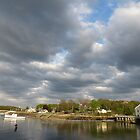 Spring sunset on the harbor . by debraroffo