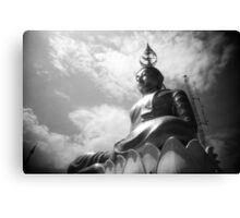 Buddha Up In The Clouds - Lomo Canvas Print