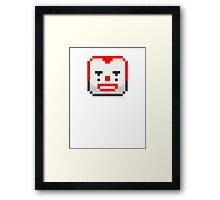 Game character : Pixel clown Framed Print