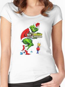 How the Grinch Stole Christmas Women's Fitted Scoop T-Shirt