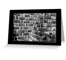 Brick Play House Wall Detail - Planting Fields Arboretum State Historic Park - Upper Brookville, New York Greeting Card