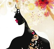 Beautiful Fashion Silhouette by SandraWidner