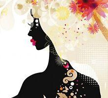 Beautiful Fashion Silhouette by SandraWidner