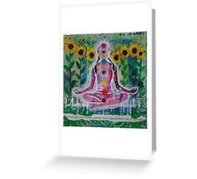Sunflower Yogi Greeting Card