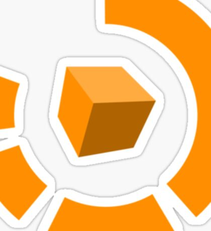 Orange Cube Sticker