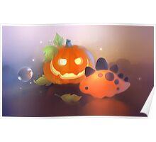 Pumpkin Dino Poster