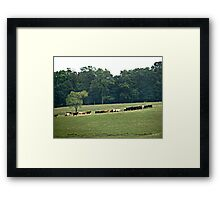 """When The Cows Come Home"" Framed Print"